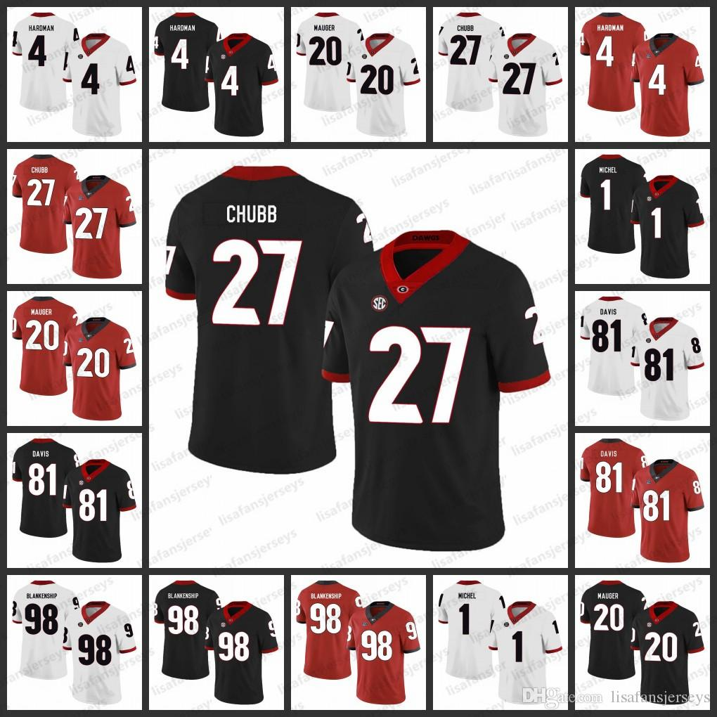 2021 Georgia Bulldogs Stitched Jerseys 4 Mecole Hardman 27 Nick ...