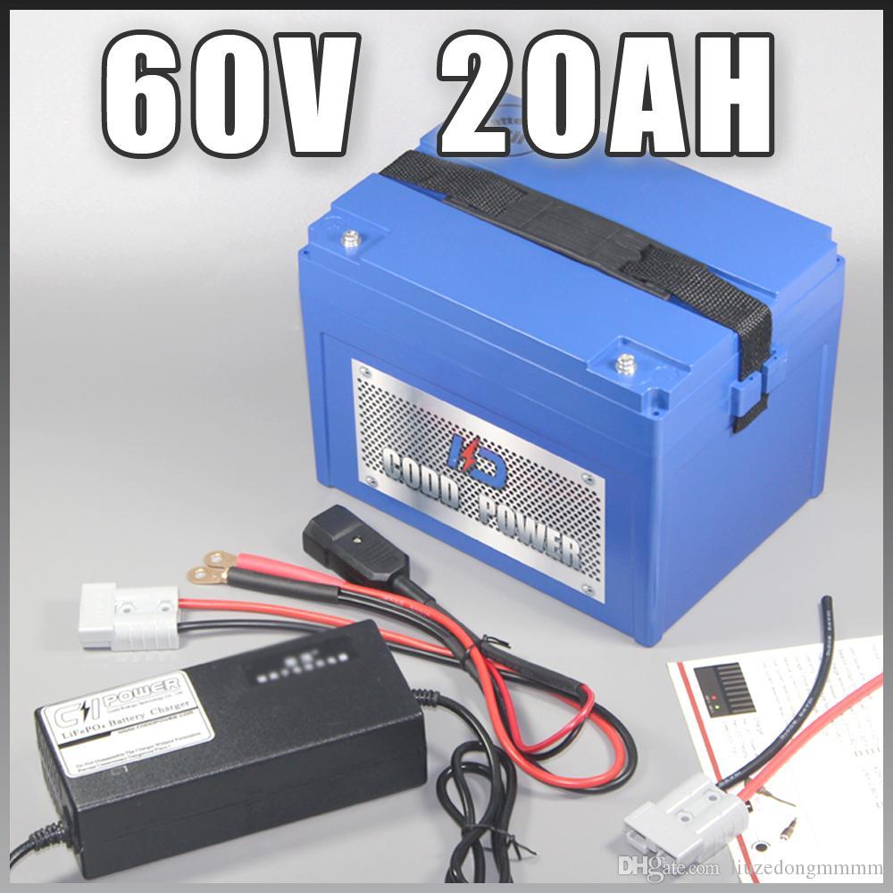 60 V 60 V 20AH bateria Scooter Elétrico da Bateria de iões de Lítio bicicleta elétrica Com 1500 w BMS Livre DOS UCE l'e DA UE imposto dever