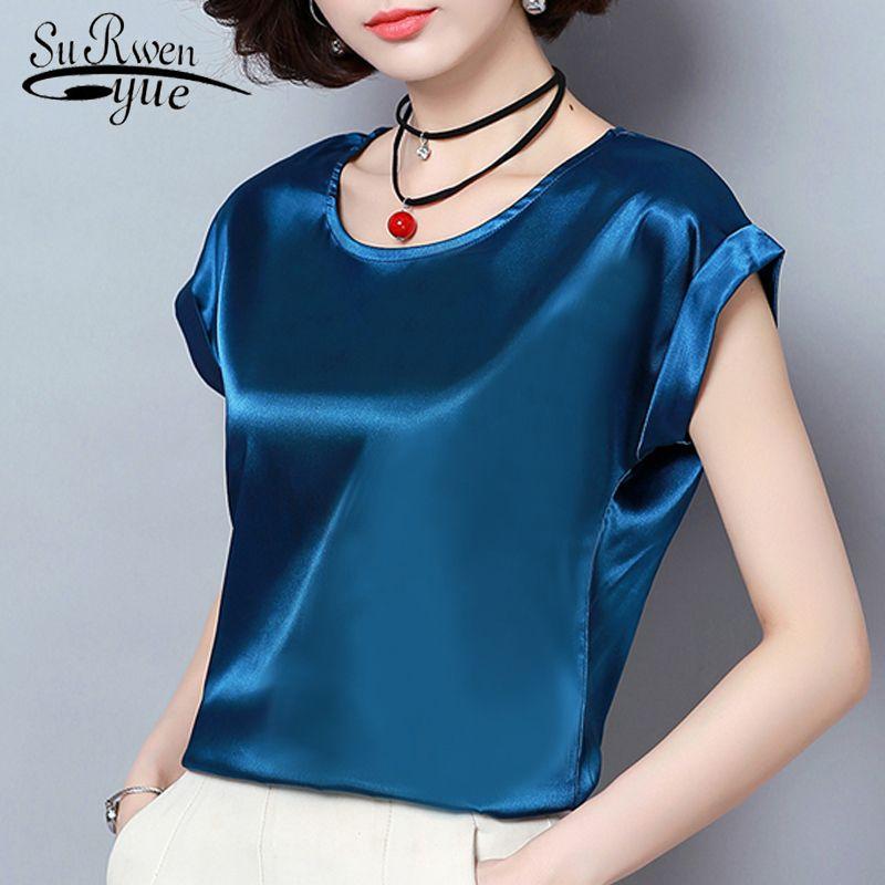 Рубашки женские блузки лето с коротким рукавом плюс размер женские топы женские моды женщина блузка 2021 шифоновая женщина рубашка Blusas 0701 30
