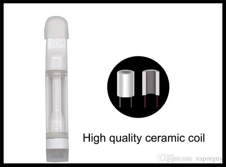 full ceramic coil wax oil tank 510 thread 1.0ml size empty oil glass cartridge pyrex tank o pen vape e cigarette tank DHL free