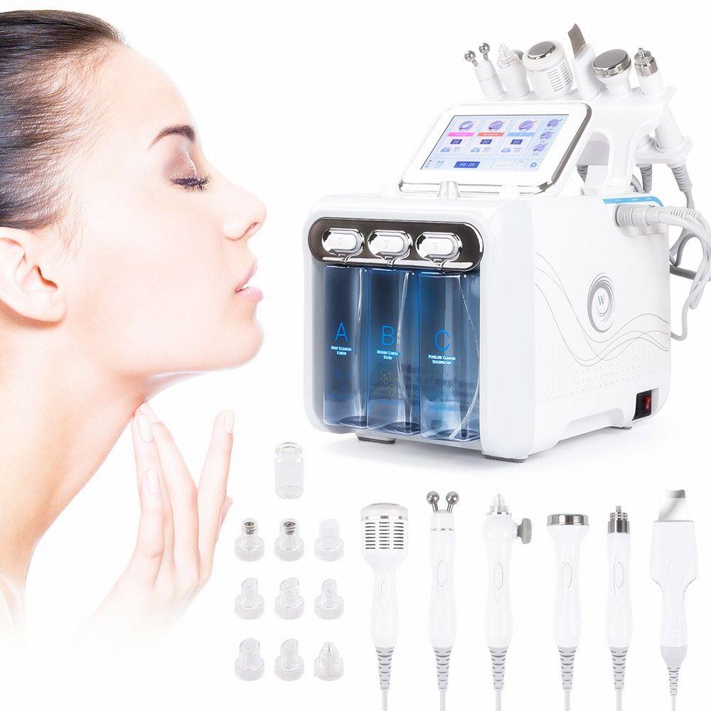 venda quente 6 em 1 oxigênio Water Jet do Aqua Peeling Hydra Beleza Pele Facial Limpeza Profunda Máquina Profissional Hidro dermoabrasão SPA Salon
