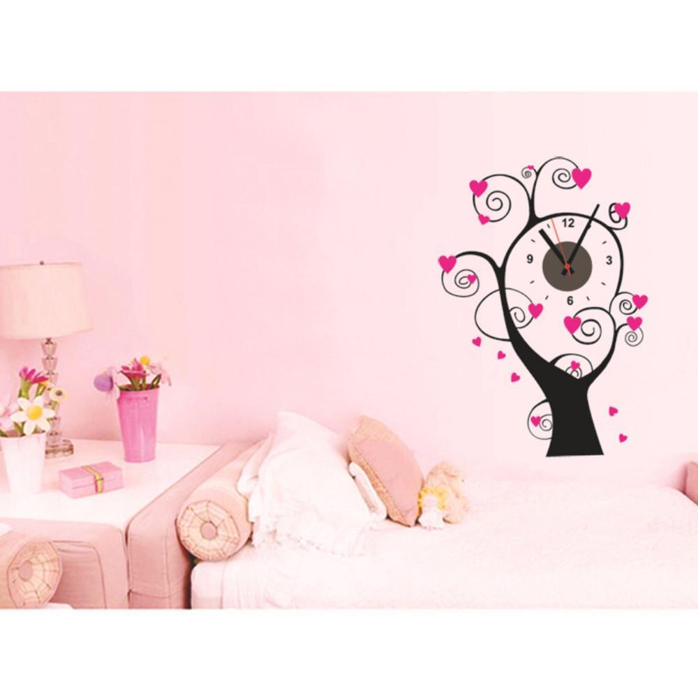 Horloge murale créative maison décoration murale ronde en forme de style moderne montre horloge de pointeur pour le salon chambre