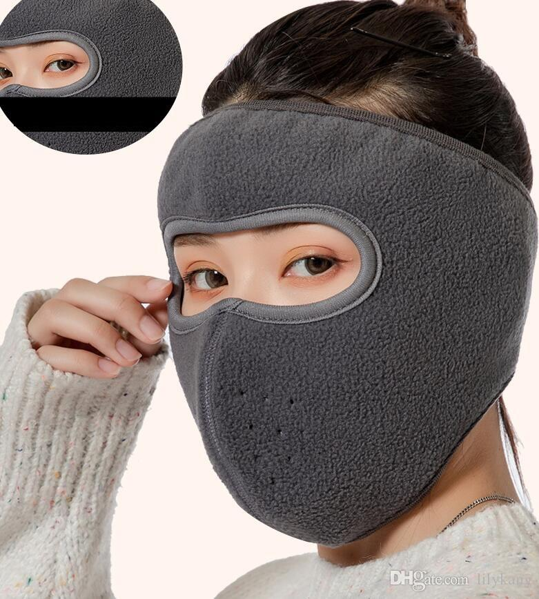 winter fleece mouth-muffle mask for outdoor sports cycling ski thick face protector windproof masks camo thick scraf face guard gear