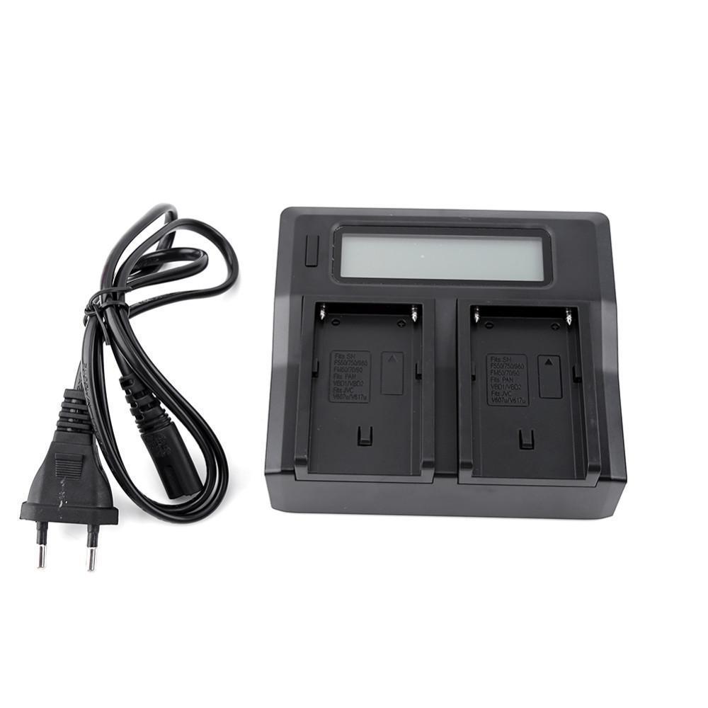 100-240V LCD 듀얼 배터리 충전기 소니 NP-F970 NP-F770 F750 F550 F570 시리즈 무료 배송 3