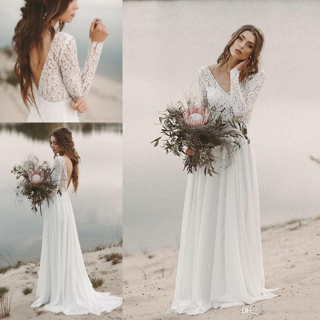 Abiti Da Sposa Stile Impero.Acquista 2019 Abiti Da Sposa Economici La Spiaggia Abiti Da Sposa