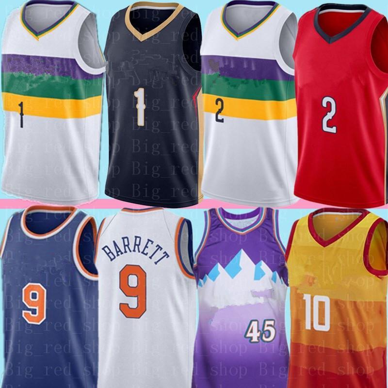 جامعة NCAA صهيون 1 ويليامسون Lonzo 2 الكرة جيرسي RJ 9 باريت دونوفان 45 ميتشل 10 كونلي كرة السلة الفانيلة