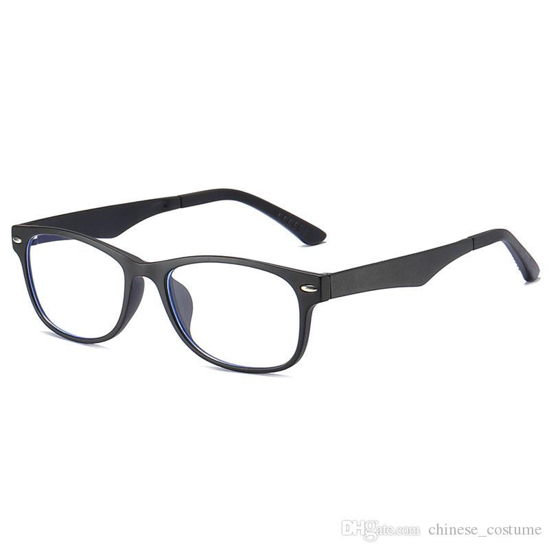 Top Hombre Gafas de computadora con Blu-ray Gafas de diseñador de marca Gafas anti-Blu-ray Gafas de protección Gafas de juegos de computadora Gafas transparentes para hombres