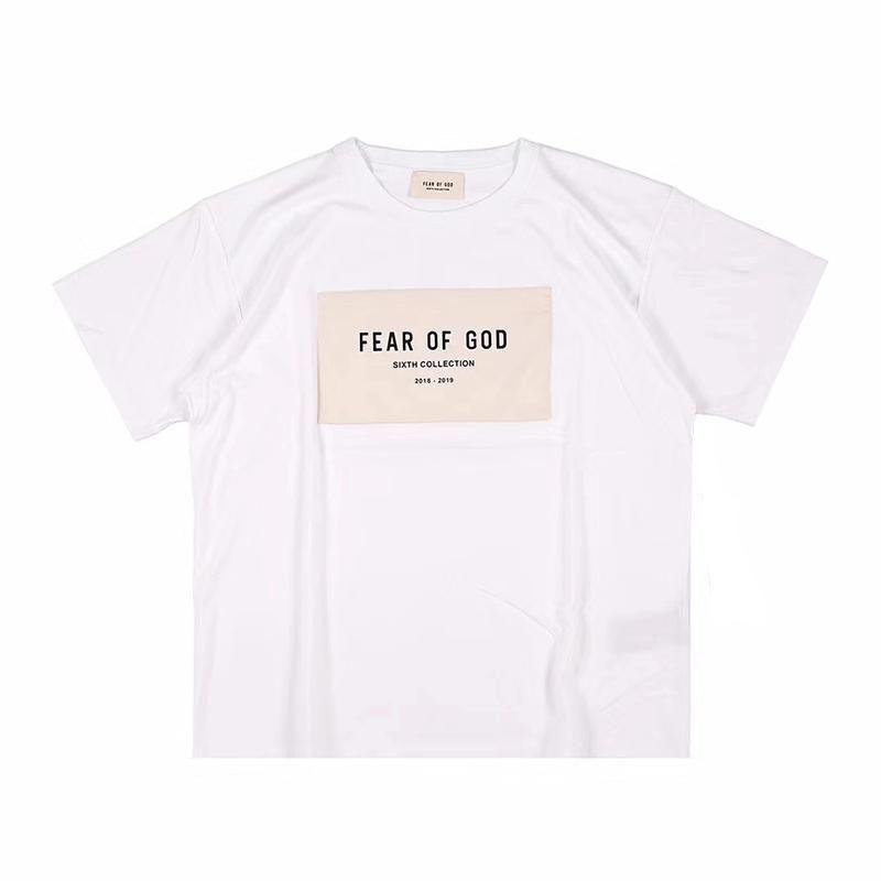 Di lusso del progettista del Mens magliette di modo casuale di estate del cotone della stampa donne degli uomini maniche corto di alta qualità Tees Nero Bianco
