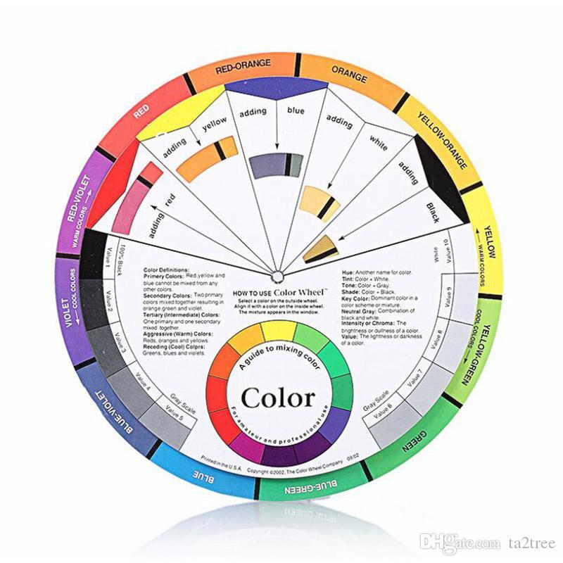 23.5cm Microblading cor roda compõem guia de cor pigmento para sobrancelha lábios de lábios maquiagem permanente suprimentos de cosméticos