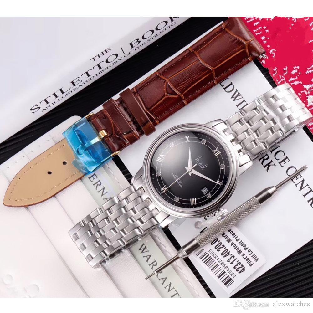 Mens İzle citzen otomatik mov oto tarihi Siyah Kadran 316L Çelik Kasa Bilezik Safir 38mm erkek Saatler Top Kalite Saatı F202