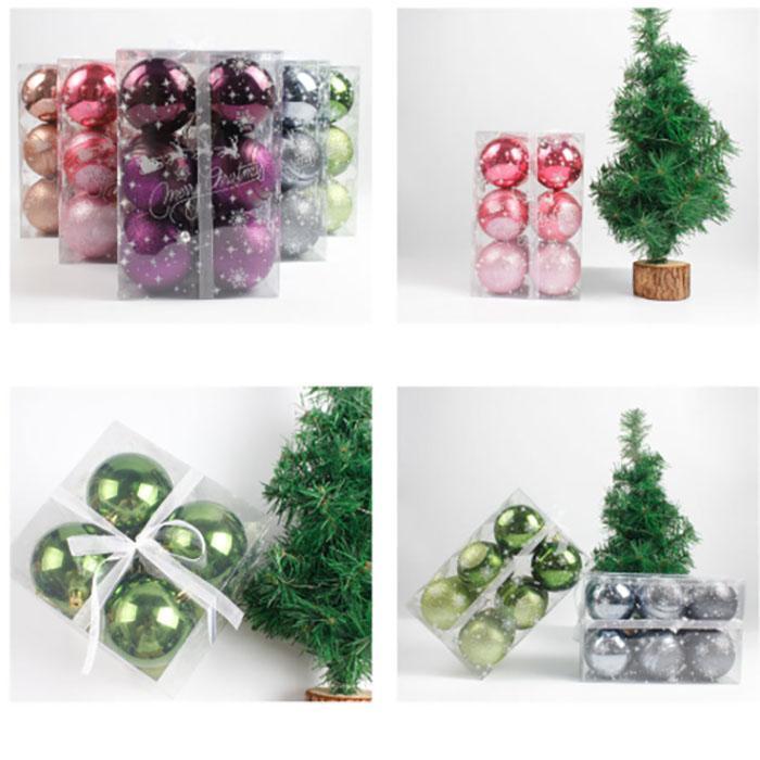 Anel de caixa de doces de bola oca Food transparente de Natal decoração da árvore de bola de plástico bola proteção ambiental decoração de casamento gift6cm