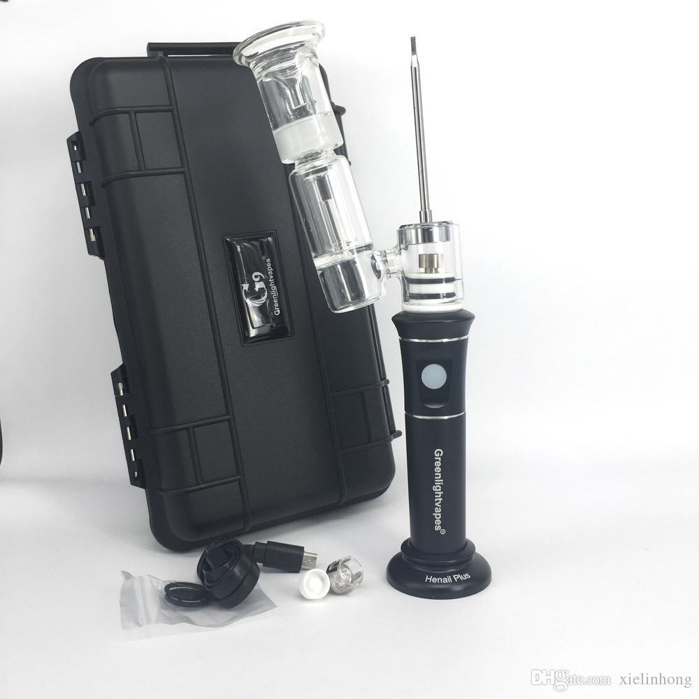 Newest update G9 henail plus 2500mah rechargable wax vaporizer pen bubbler glass bong dry herb vape pen with Quartz/ceramic/titanium nail