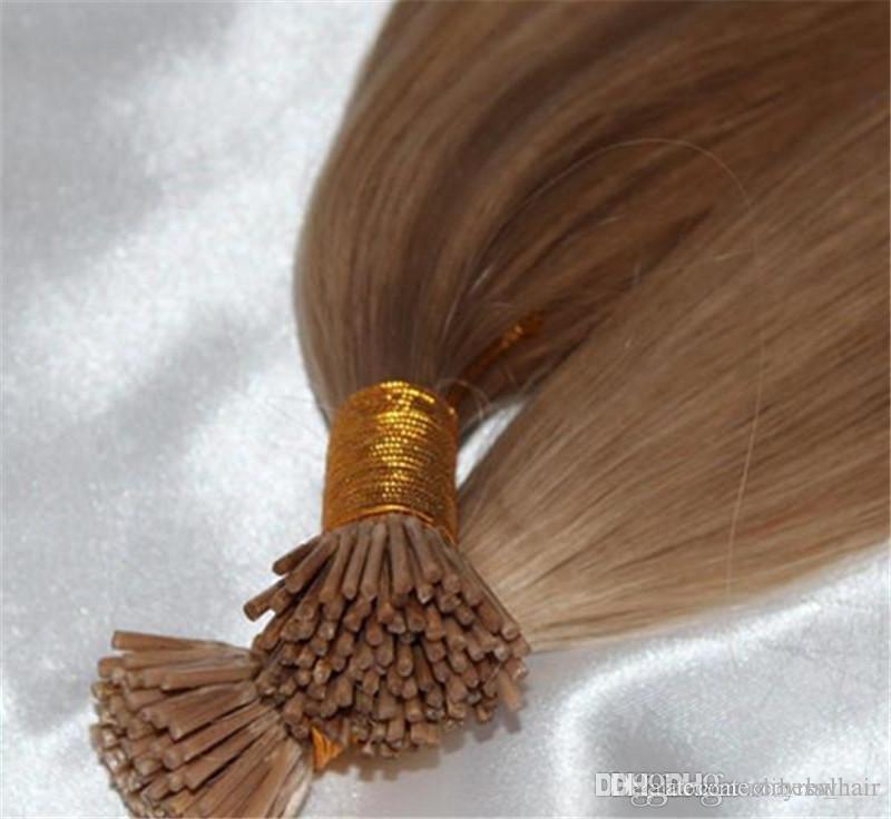 Elibess Марка - Стики я наконечник в волосах 01g / s200g 200Strands 14 16 18 20 22inch прямого индийского Реми волосы другого варианта цвета