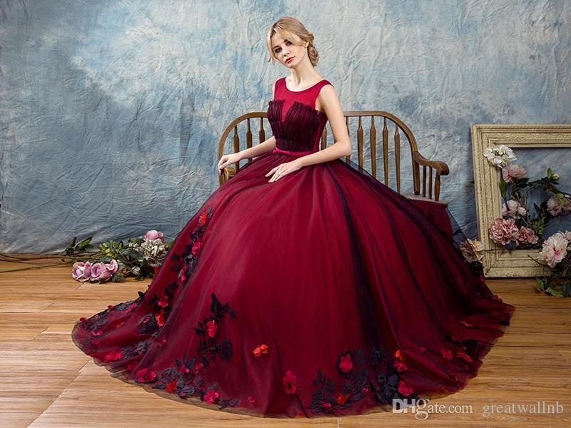 100% echt weinrot schwarzer Schleier Rokoko mittelalterlichen Renaissance-Kleid Sissi Prinzessin Kleid Victorian / Marie / Belle Kleid / Ballkleid.