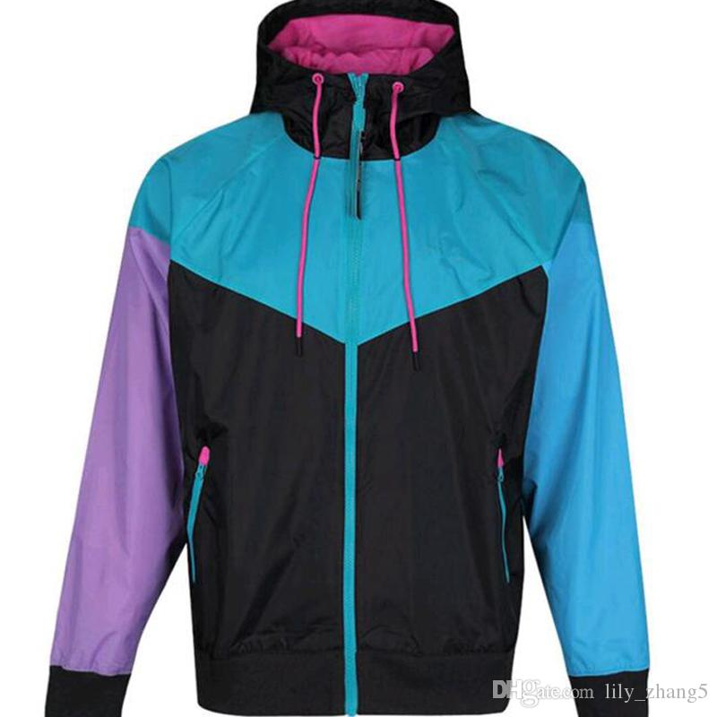 Freies verschiffen fallen dünne windrunner männer frauen sportswear hochwertige wasserdichte stoff männer sportjacke mode reißverschluss hoodie s-2xl