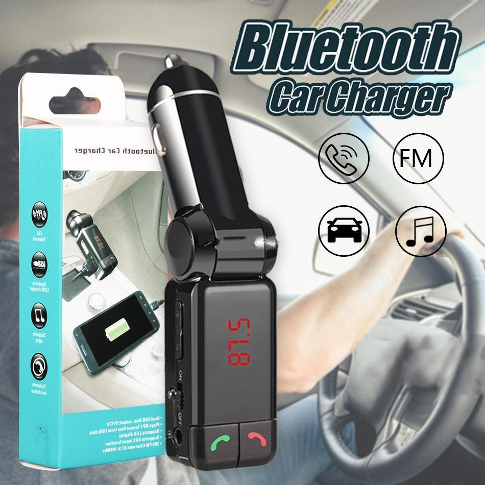 블루투스 자동차 키트 Handsfreee 콜링와 BC06 차량용 충전기 블루투스 FM 송신기 듀얼 USB 포트에서 차량 블루투스 수신기 MP3 플레이어