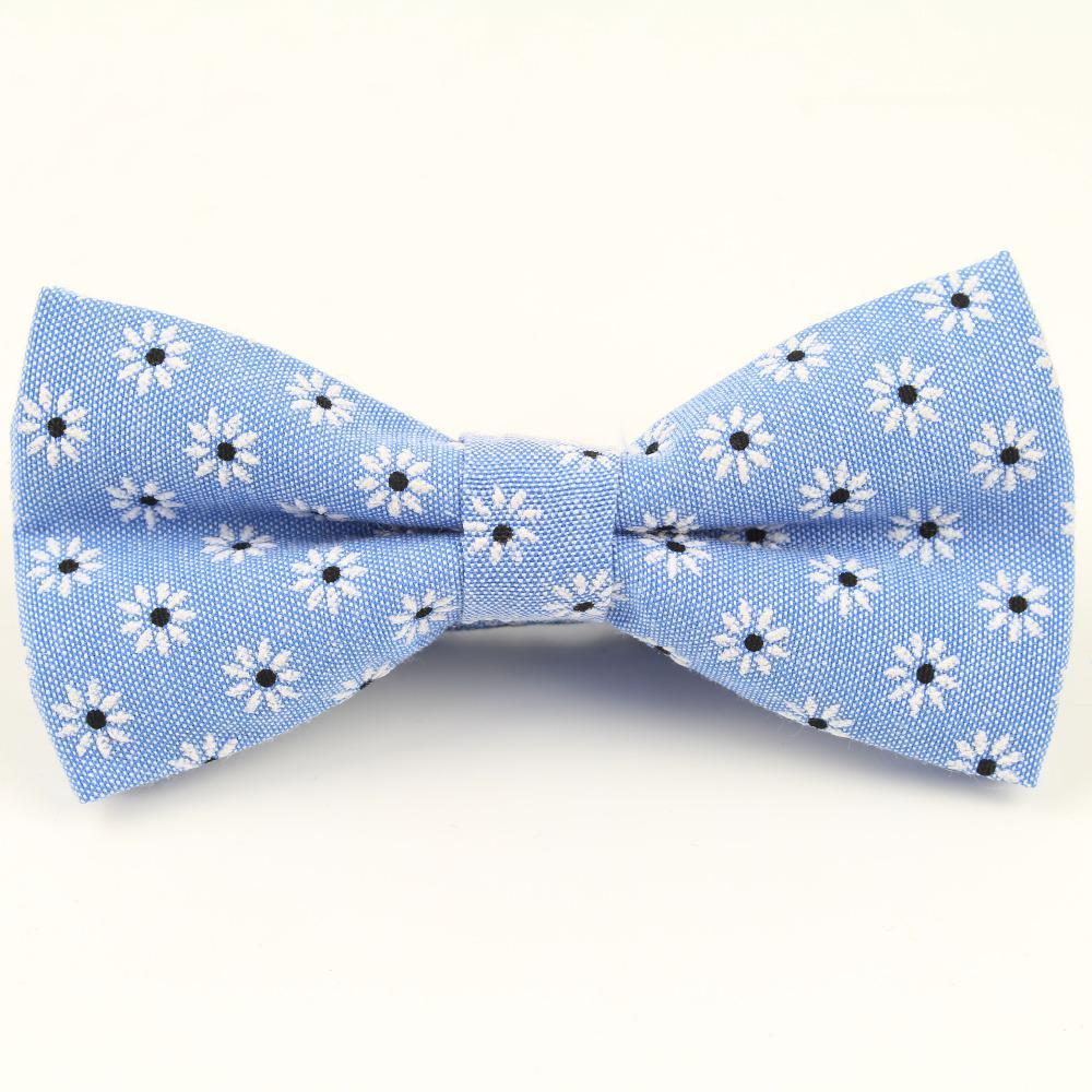 Mens laço Bowtie Flexível Liso Padrão gravata algodão macio Borboleta decorativa da flor de Paisley Laços