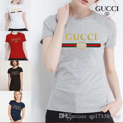 Kısa kollu kadın 2019 yeni yuvarlak boyun T-shirt giyim yarım kollu Tişört üst trendNEW Kadın T gömlek Pamuk Rahat