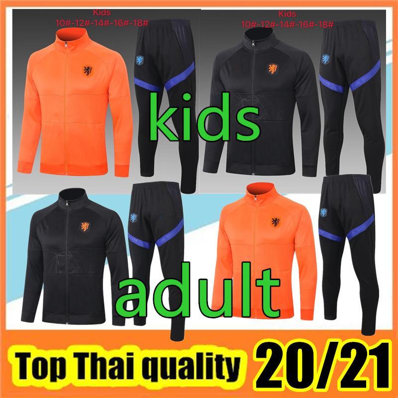Top-Qualität 2020 21 Niederlande DE JONG MEMPHIS DE LIGT erwachsene Fußball-Trainingsanzug 2020 2021 VIRGIL PROMES Kinder Zu