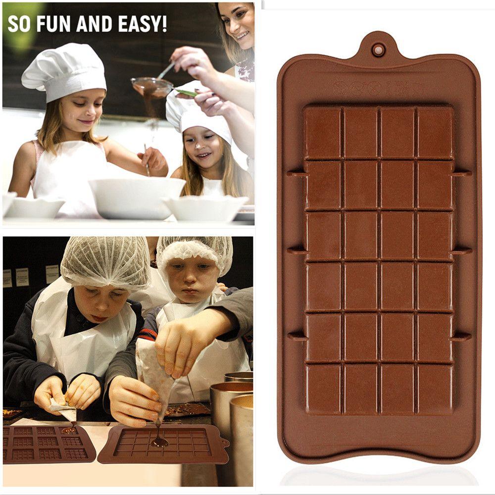 Cavity Break-Apart Chocolat Stampo Cassettaio Non-Stick Proteine del silicone e dell'energia Bar Candy Stampi Food Grade