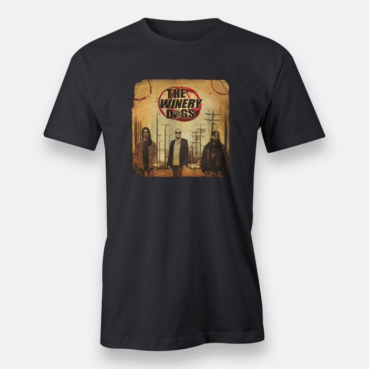 Winery Dogs The Winery Dogs Black Men'S Print T Shirt Man Short