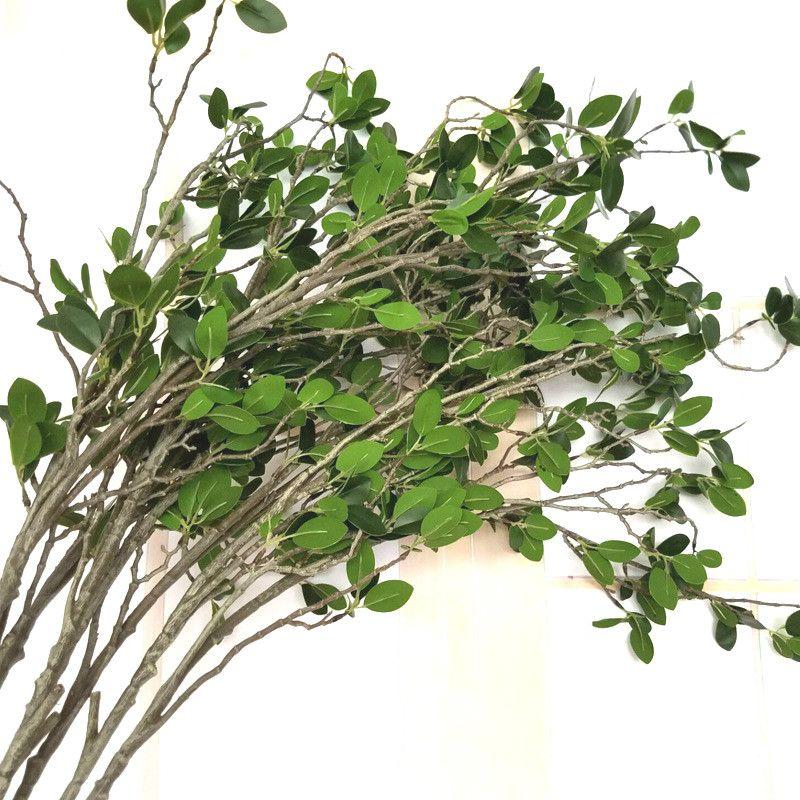 2-Piece artificiale Milan Branch artificiale piante di fiori Milano Piante di fiore esterni Piantare decorazione del giardino