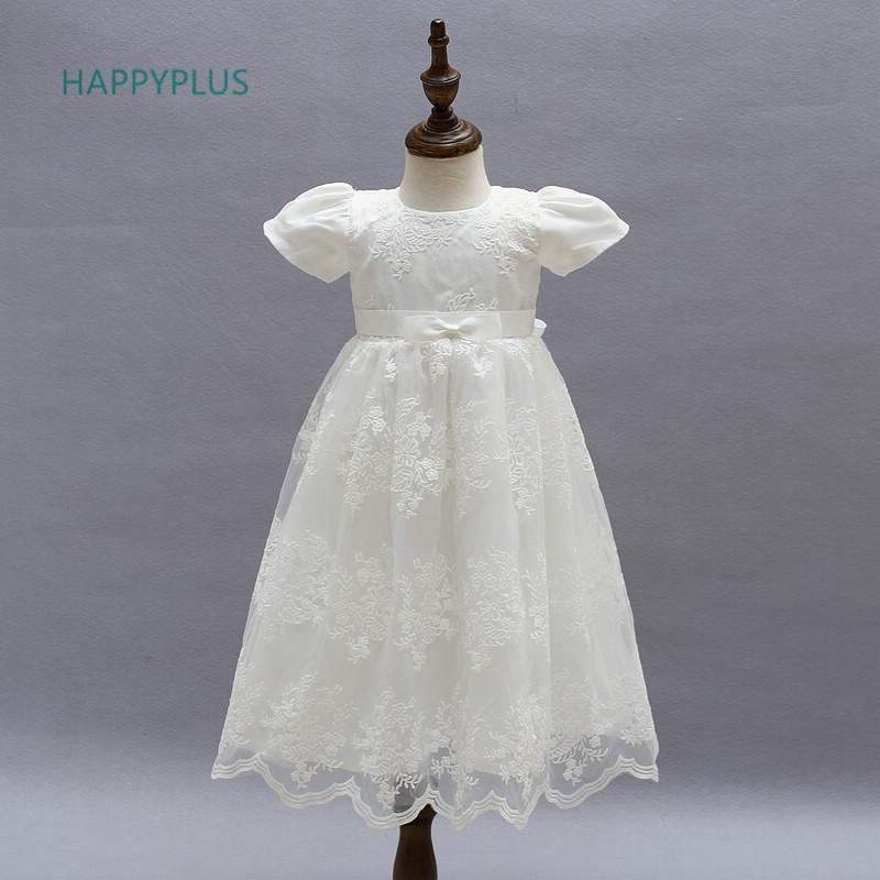 Happyplus bordado longo batismo bainha de casamento do bebê menina vestido maxi vestido para dama de honra infantil q190518