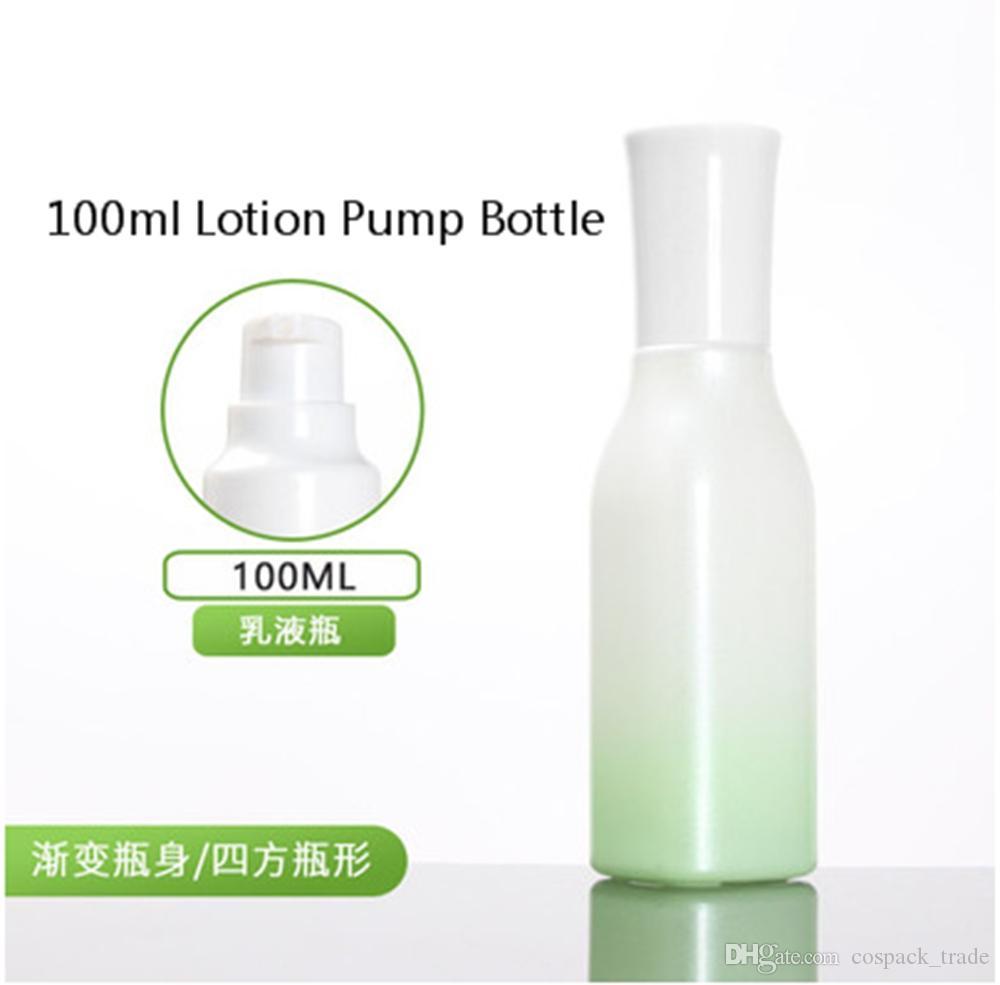 Garrafa de 100ml Creme Lotion com tampa branca, 100ml spray frasco de vidro
