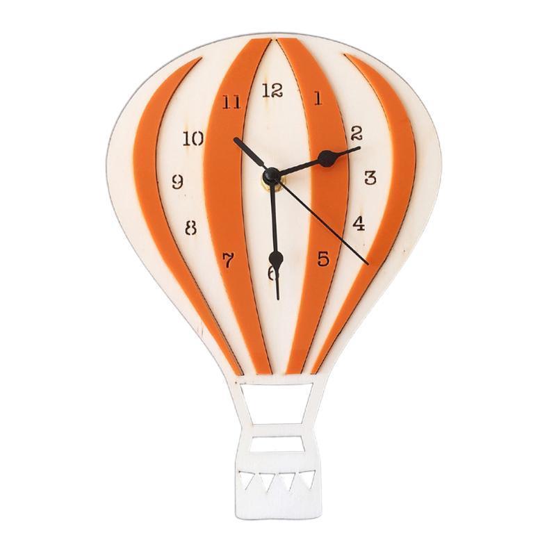 아이 침실 벽 시계 북유럽 작풍 열기 풍선 모양 거실 학교 나무로 되는 사무실 디지털 표시 장치 가정 장식 무언