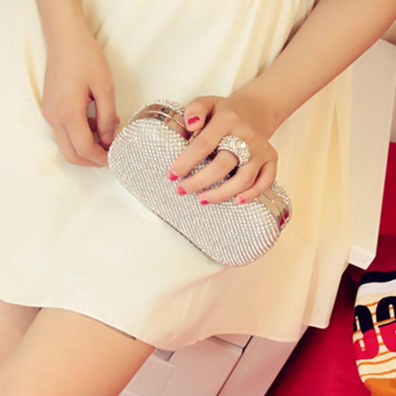 Новые европейские и американские высокого класса мешок обед мешок кольцо бриллиантовое банкета сцепления дамы платье вечернее горный хрусталь