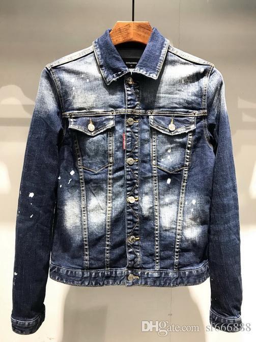 Europäisch-amerikanischer Stil 2020 berühmte Jeansjacke Jeanshemd Herren-Marken-Männer Direkt Vernähen Motorrad Jeansjacke XD29