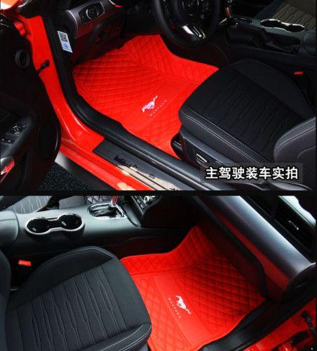 Para o ajuste Ford Mustang 2011-2019 luxuosos tapetes feitos sob encomenda do carro Nontoxic e inodorousNon