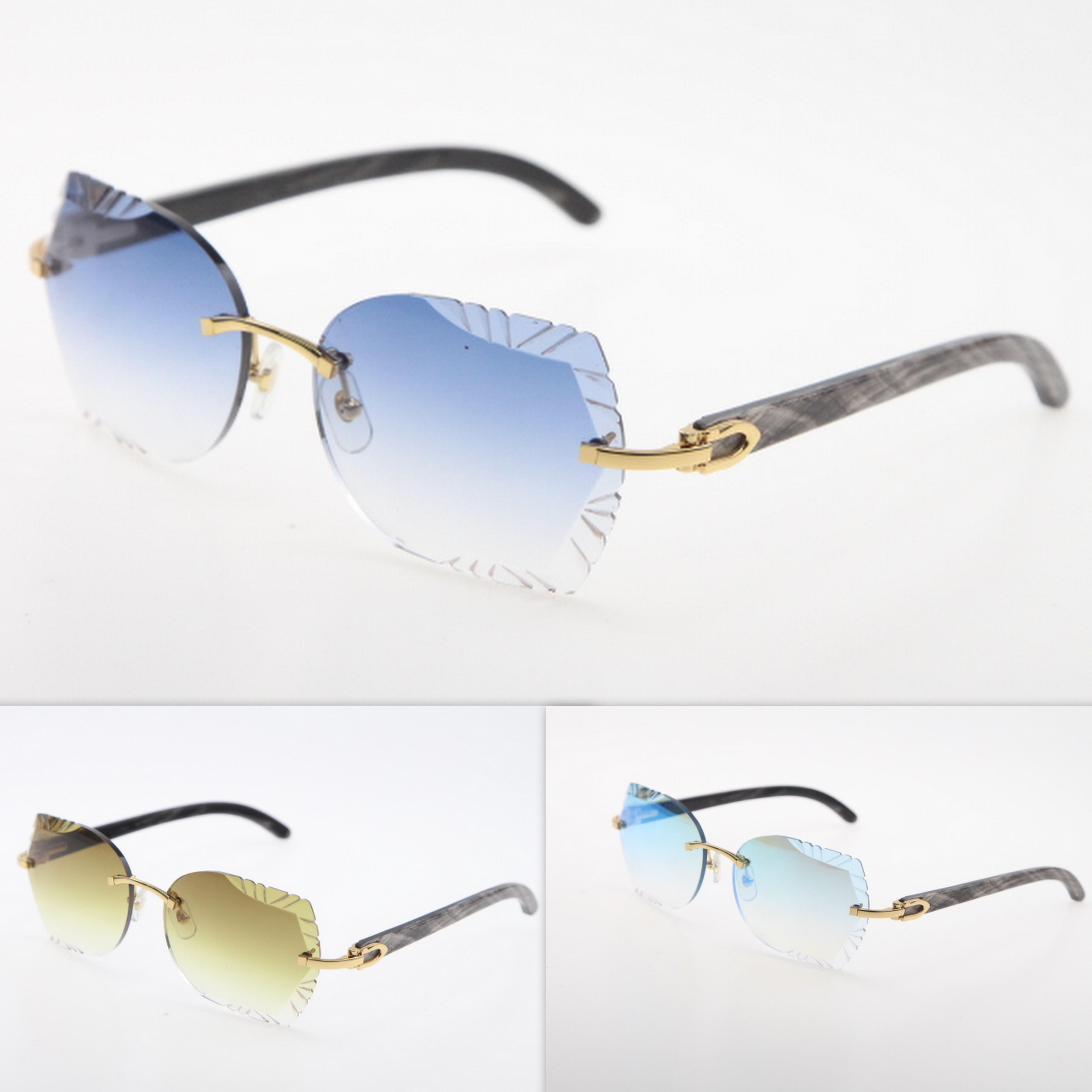 망 디자이너가 무한없는 유니섹스 원래 대리석 블랙 버팔로 경적 선글라스 패션 다이아몬드 컷 렌즈 adumbral c 장식 골드 태양 안경 기발한 안경