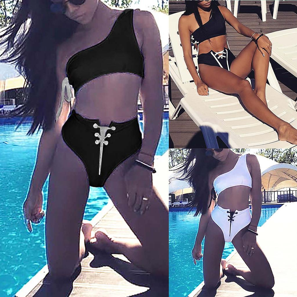 mayo kadın bikini 2020 mujer Kadın Seksi Tek Parça Bikini Leopar Mayo Patchwork Mayo Beachwear Seti 25