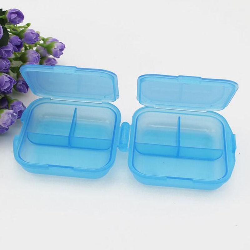 Folding Travel Portable 2 Layer 6 Room Vitamin Medicine Pill Box Case Organizer Container Storage Boxes ZA5444