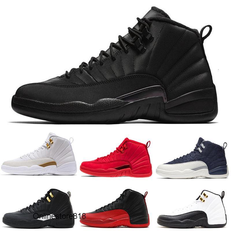 Mejor zapato 12s hombre de la calidad de Baloncesto 12 WNTR Gimnasio Rojo Michigan Burdeos Bred las mujeres del tamaño Juego de la gripe Taxi Deportes zapatilla de deporte formadores 7-13