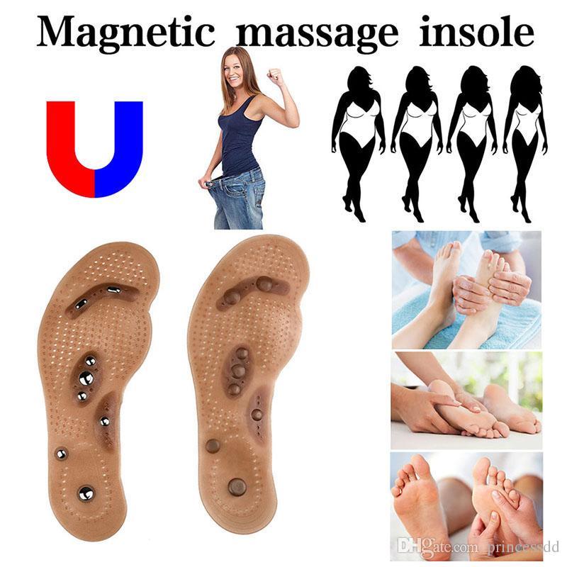 Vücut Detoks Zayıflama Manyetik Ayak Akupunktur Noktası Terapi Astarı Yastık Masaj Brioche Konfor Masaj Ayakkabı Pedleri Terapi