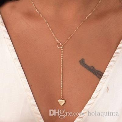 Kupfernes Herzkettenglied-Halskettengeschenk der neuen Art und Weise modische Schmucks für Frauenmädchen