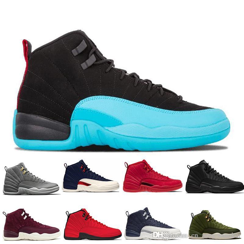 12 12s Palestra Red WNTR mens scarpe da basket internazionale del Michigan Volo Collegio Navy Flu gioco Taxi grigio scuro degli uomini di sport scarpe da ginnastica di marca