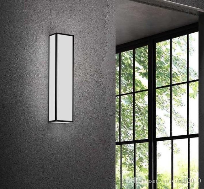NUEVA 220 V lámpara de pared led simple dormitorio moderno lámpara de cabecera vida creativa diseño rectangular luces de pasillo TV luz de fondo LLFA