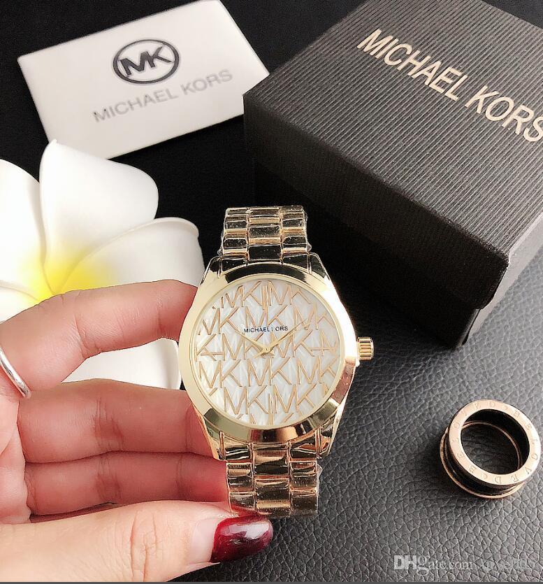 58 Luxe Montres-bracelets des femmes des hommes de qualité supérieure 316L inoxydable Steel Band Quartz Designer M1MK Montres Classique Reloj