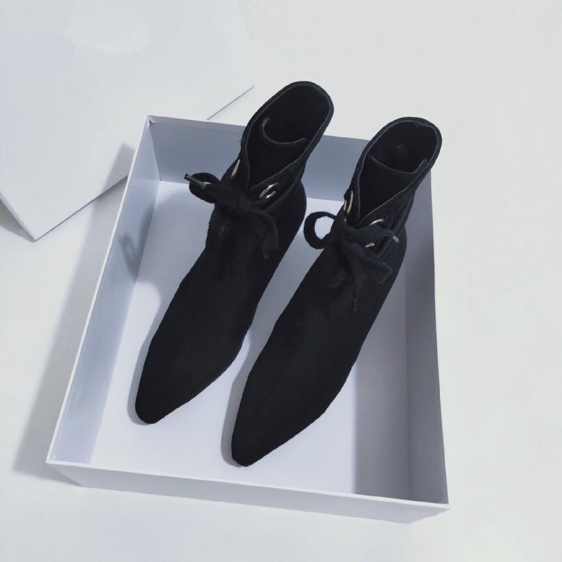 Di lusso caldo di vendita delle nuove donne-caviglia Hlaf High Heel lana calzino-come bottini signore High Top Stivali Aftergame Quincunx Altezza del tacco 35-41 ks19090404