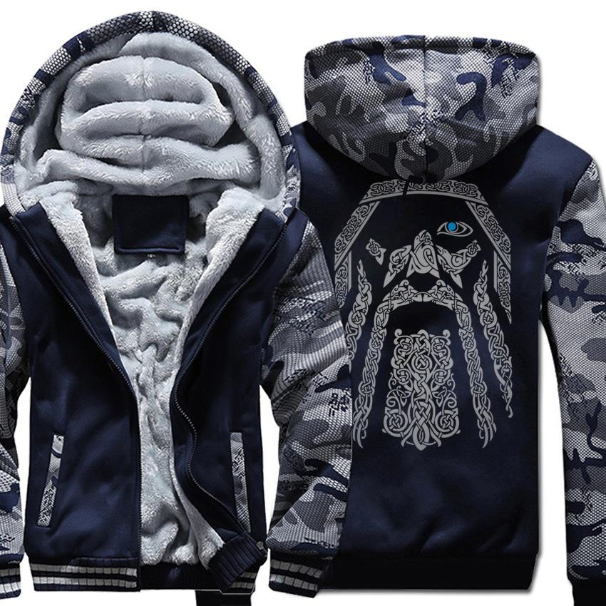 мужской дизайнер пальто зимней одежды плюс бархат моды бренд кардиган камуфляж