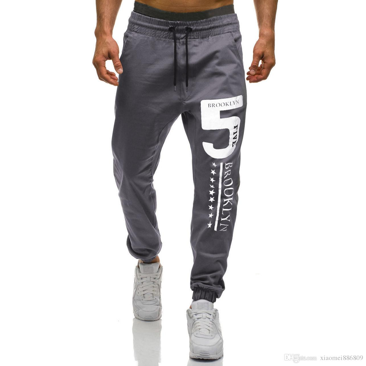Mens Sport Pants Long Trousers Tracksuit Fitness Workout Joggers Gyms Sweatpants