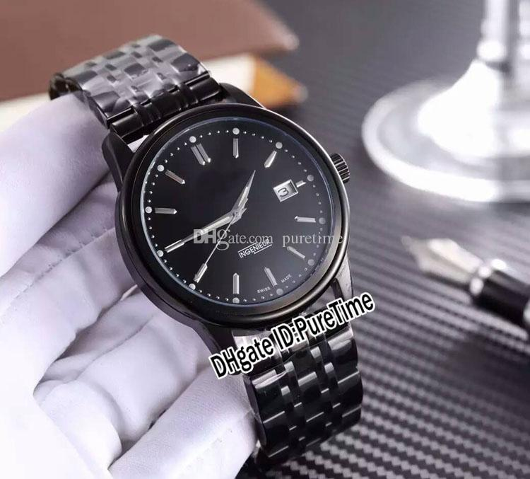 Nueva familia Ingenieur IW323310 PVD Negro Acero Negro Dial Miyota automático del reloj para hombre del acero inoxidable de los relojes baratos 248c3