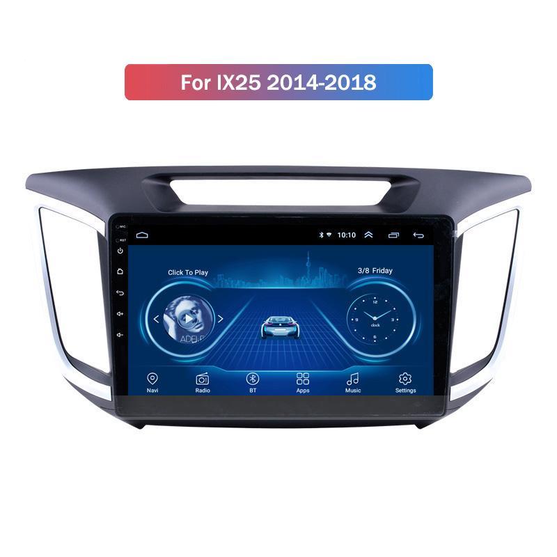 Car Radio Android 10 GPS pour Hyundai IX25 2014-2018 Lecteur multimédia avec écran tactile HD