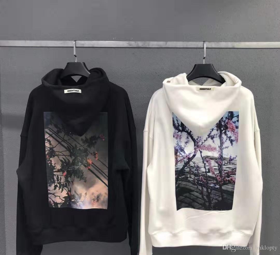 FOG FEAR DE DIEU Essentials Sweats à capuche homme manches longues Sweat Streetwear imprimé floral Hip Hop Sweatshirts Designer