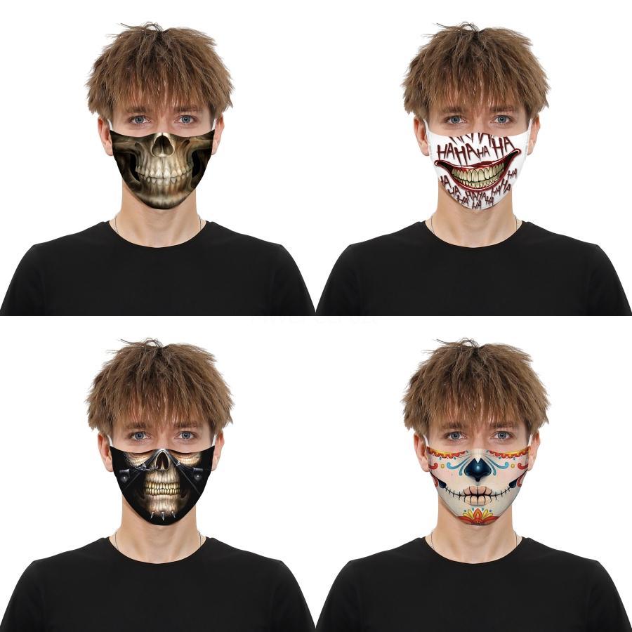 Impreso de labios máscara de la mascarilla de protección para adultos con máscaras Claro ventana visible la boca de algodón lavable cara y la máscara LIBRE # 953