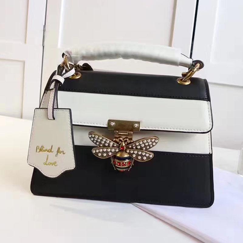 Designer fivela bolsas bolsas rainha crossbody amor bolsas de ombro abelha mulheres para saco marca feminina de couro cego margaret sacos Eorrx