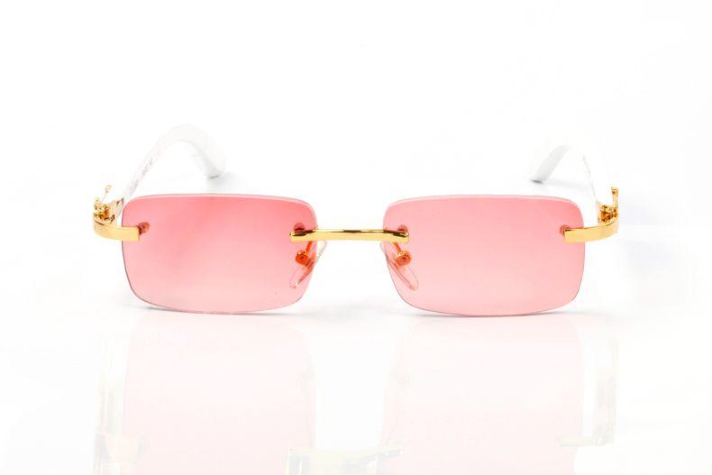 Espelhos sem aro espelhos claros lente marca óculos cor-de-rosa óculos retangular white eyeware com design óptico de madeira design óptico sungla loqk